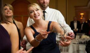 wedding clinking