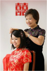 chinese wedding traditions hair combing ceremony