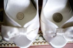sweden wedding coins in shoes