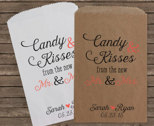 wedding favor candy bags