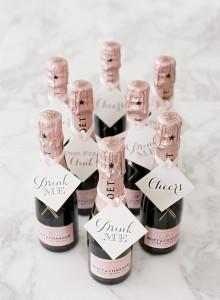 wedding favor champagne bottle