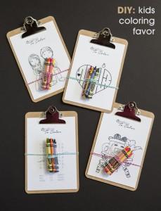 wedding favor coloring kit for kids