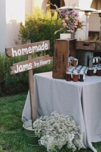 wedding favor homemade jam