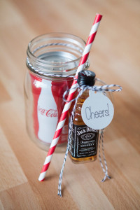 wedding favor whiskey and coke