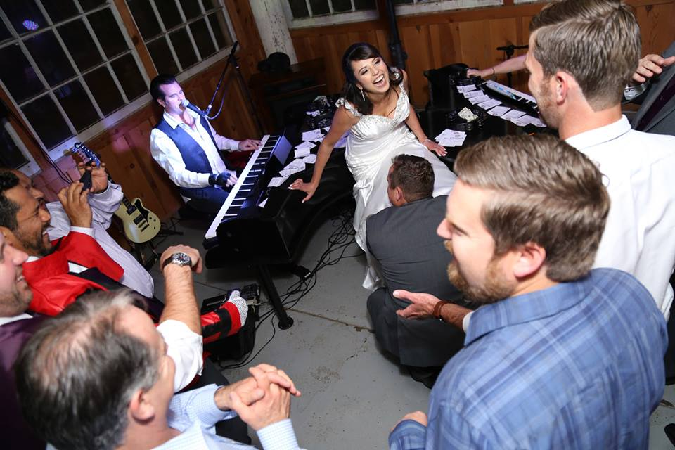 The Killer Dueling Pianos at a wedding in Fresno, Ca 443-695-4978